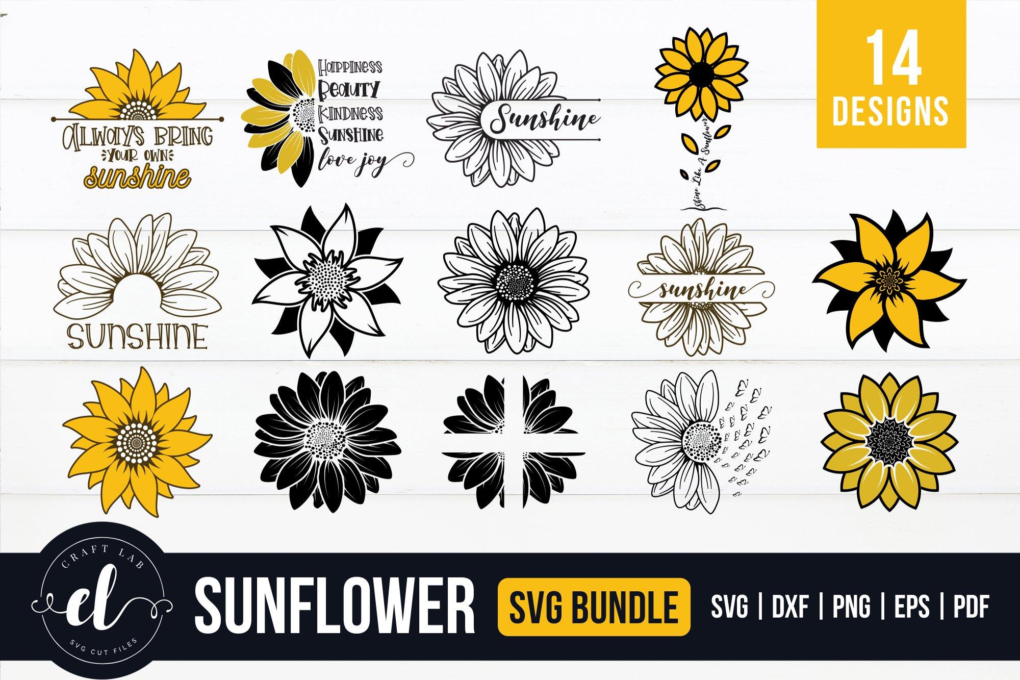 Download Sunflower SVG Bundle | Pre-Designed Illustrator Graphics ...