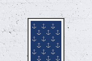 Sea Anchor Pattern - Printable