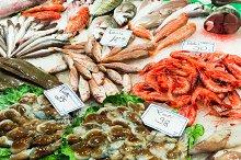 Fresh fish stall