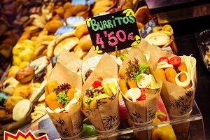 Burritos stall