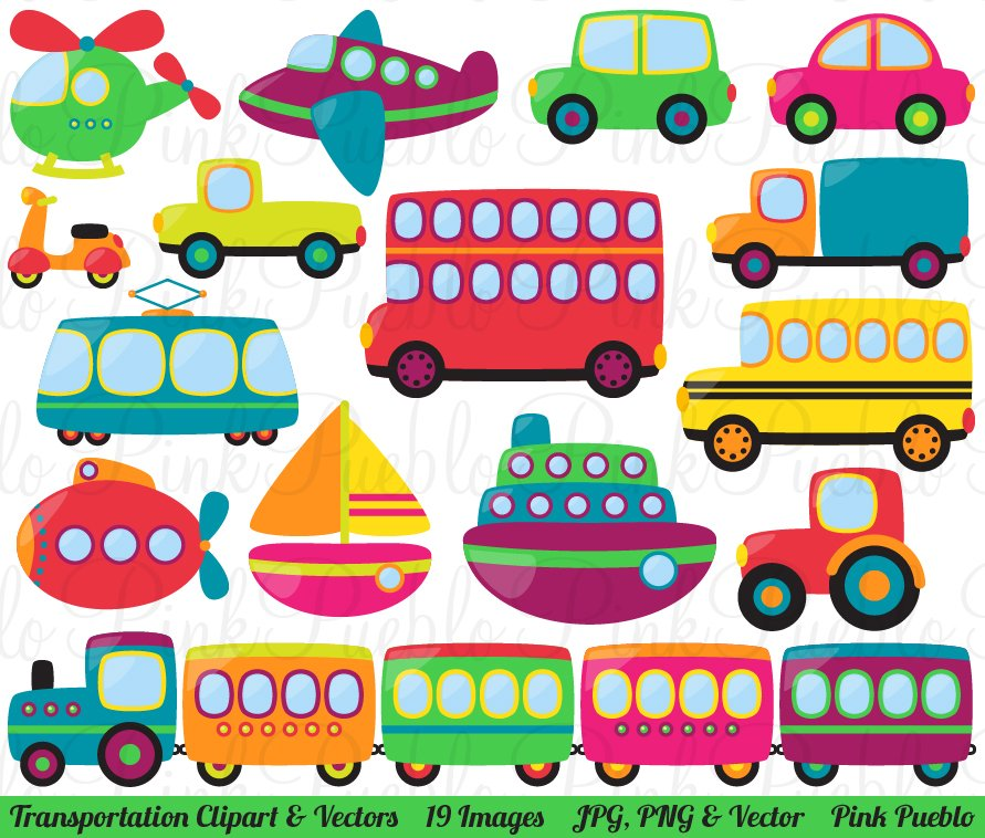 Completely new Transportation Clipart and Vectors ~ Illustrations ~ Creative Market HD16