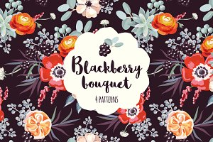 Blackberry bouquet patterns