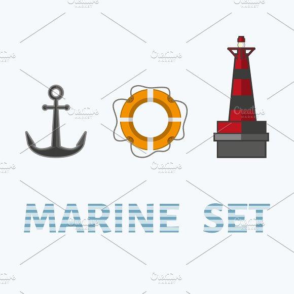 Sea flat style set