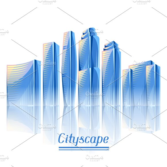 City skyscrapers backgrounds.