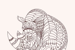 Patterned rhino