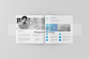 Square Magazine / Brochure Mock-Up