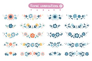 Decorative floral compositions