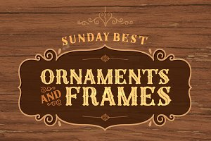Sunday Best Ornaments and Frames