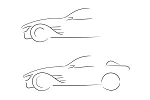 Sport car outlines