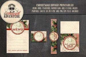 Christmas Dinner Printables