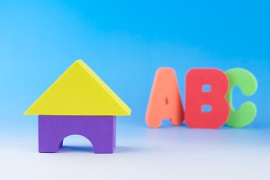 Children foam blocks and ABC