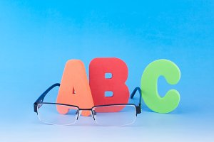 ABC and eyeglasses