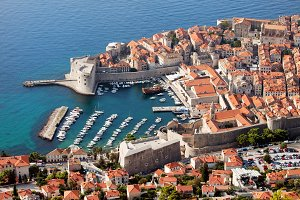 Old Town of Dubrovnik Aerial View