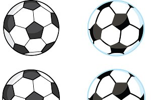 Cartoon Soccer Balls Collection