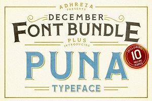 Adhreza's Bundle + PUNA Typeface