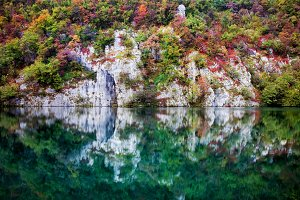 Reflection in Autumn Mountain Lake