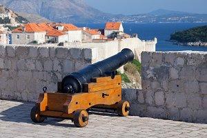 Medieval Cannon Defending Dubrovnik