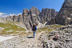 Dolomiti - hiking in Sella mount