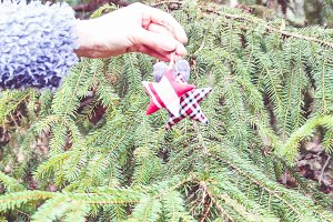 Handmade christmas tree decoration