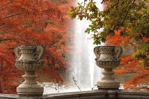 Autumn scene in Madrid