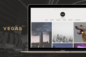 Vegas - Modern Grid Tumblr Theme