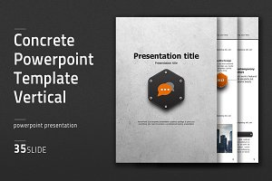 Concrete PPT Template Vertical