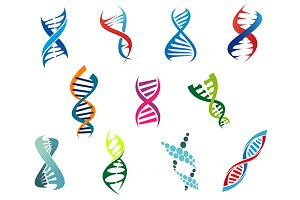 DNA molecules and symbols