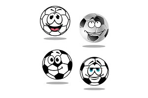 Cartoon soccer or football  characte