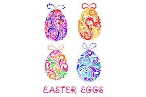 Floral decorative patterned Easter E