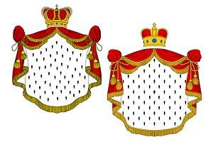 Heraldic royal mantles