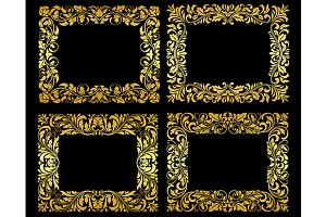 Ornate gold floral frames