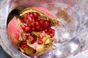 Pomegranate on abalone