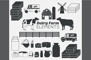 Dairy farm design elements