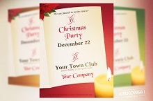 Christmas Invitation Flyer Template