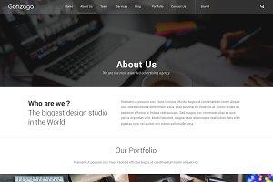 Gonzaga Agency Website PSD