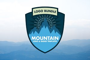 15 Mountain Logos Template