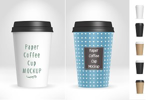 Paper Coffee Cup Mockup V1