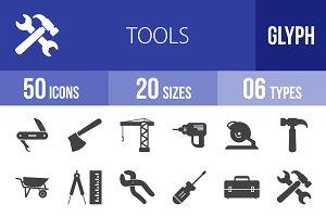 50 Tools Glyph Icons