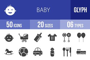 50 Baby Glyph Icons