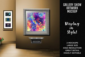 Gallery Show Artwork Mockup