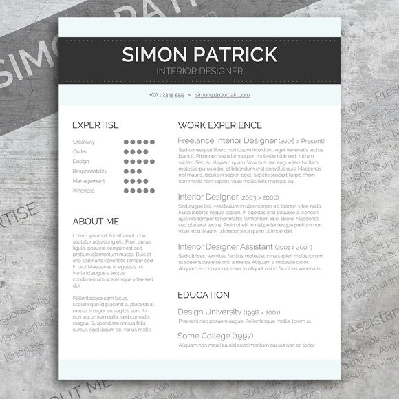 smart word cv cover letter resume templates creative market