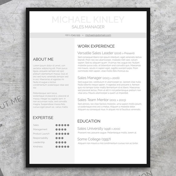 Resume + FREE Cover Letter ~ Resume Templates ~ Creative Market