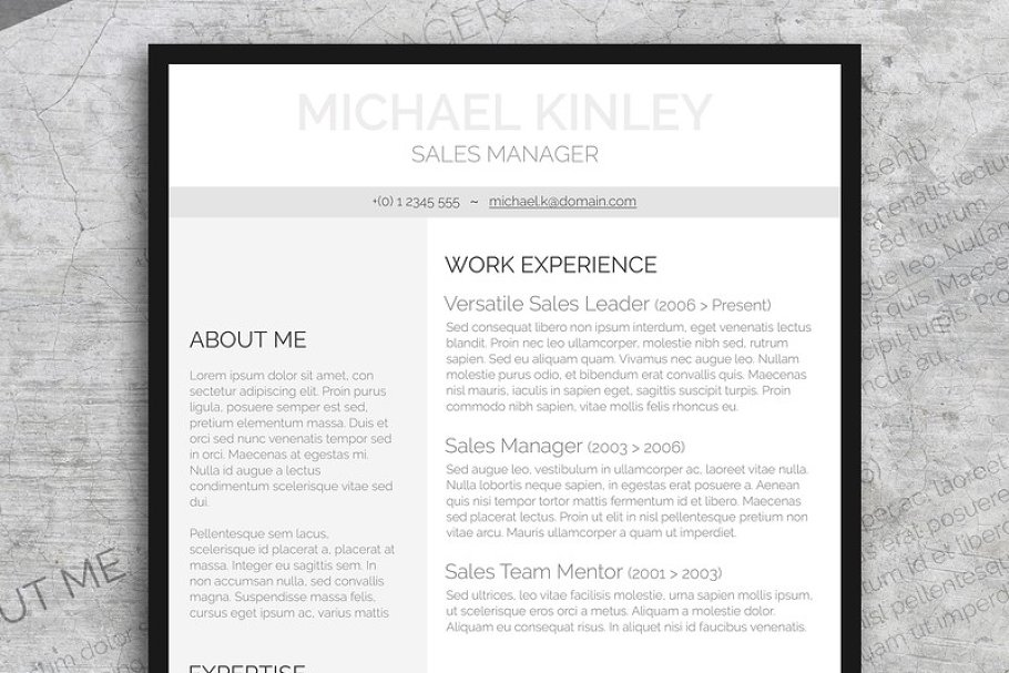 Resume FREE Cover Letter Templates Creative Market