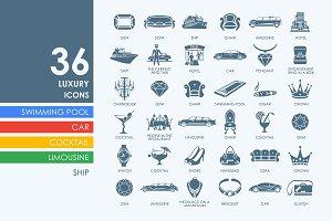 36 luxury icons
