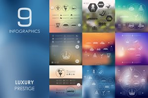 9 luxury infographics