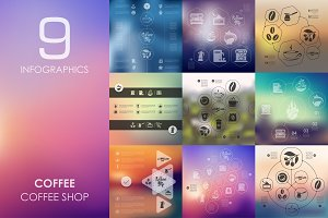 9 coffee infographics