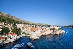 Dubrovnik at Adriatic Sea in Croatia