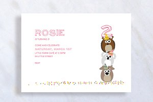 Cute Kid Birthday Invitation Card
