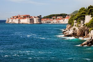 Dubrovnik and Adriatic Sea Coastline