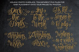 Gold Christmas overlays